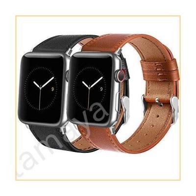 Tobfit レザーバンド Apple Watchバンド 38mm 40mm 42mm 44mm レディース メンズ トップグレインレザーリストバン