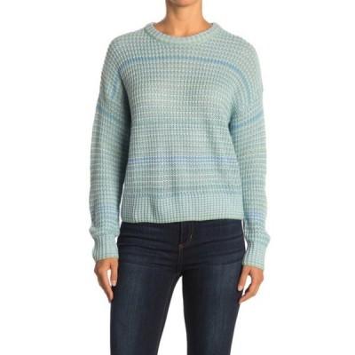 ラッシュ レディース ニット&セーター アウター Ribbed Knit Crew Neck Sweater BLUE