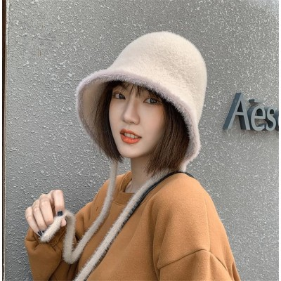カジュアルコーデのマストアイテム!💙韓国ファッション 2020 秋 冬 韓国版 フィッシャーマンハット ハット 耳の保護 ニット 百掛け 可愛い カジュアル 簡約 おしゃれな
