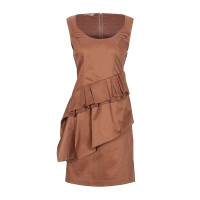 ROSE' A POIS ミニワンピース&ドレス ブラウン 44 コットン 97% / ポリウレタン 3% ミニワンピース&ドレス