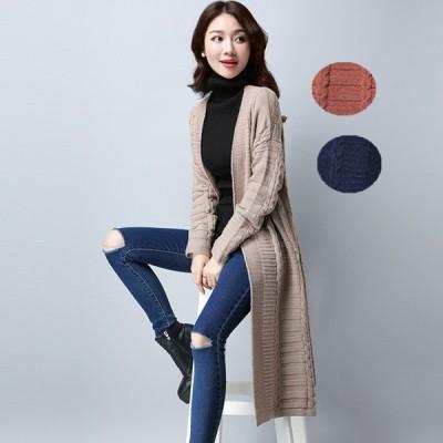 アウター カーディガントップス セーター シンプル 編み 定番アイテム カジュアル感   大きいサイズ