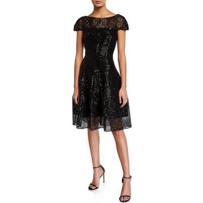 タルボールホフ レディース ワンピース トップス Micro-Sequined Cap-Sleeve Cocktail Dress