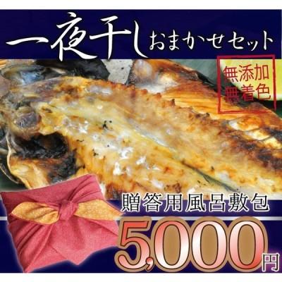 ギフト用 干物 一夜干し お歳暮 詰め合わせ おまかせ 5000円セット 風呂敷 ギフト プレゼント 美味しい 海鮮 魚