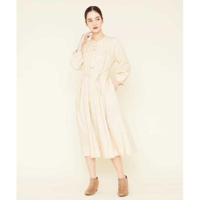 【シビラ】 タックデザインシャツドレス レディース ベージュ M Sybilla