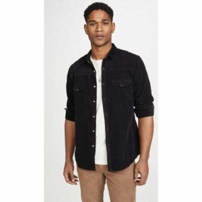 フレーム FRAME メンズ シャツ ウエスタンシャツ トップス Long Sleeve Corduroy Western Shirt Noir