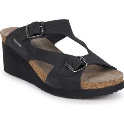 メフィスト MEPHISTO レディース サンダル・ミュール スライドサンダル シューズ・靴 Terie Slide Sandal Black Nubuck Leather