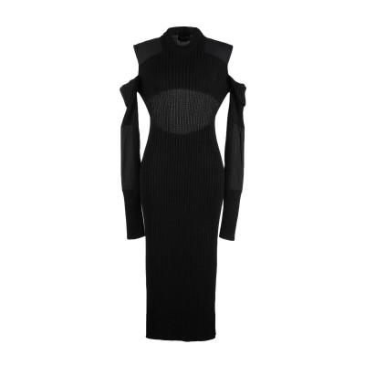 CALVIN KLEIN 205W39NYC 7分丈ワンピース・ドレス ブラック S コットン 70% / レーヨン 28% / ポリエステル 2%