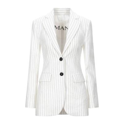 ERMANNO DI ERMANNO SCERVINO テーラードジャケット ホワイト 40 コットン 50% / ポリエステル 31% / リネン
