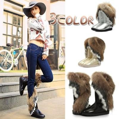 ムートンブーツ ウィンターブーツ 防寒靴 防寒シューズ レディース スノーブーツ トール丈 ボア 履き心地いい 優品 セール