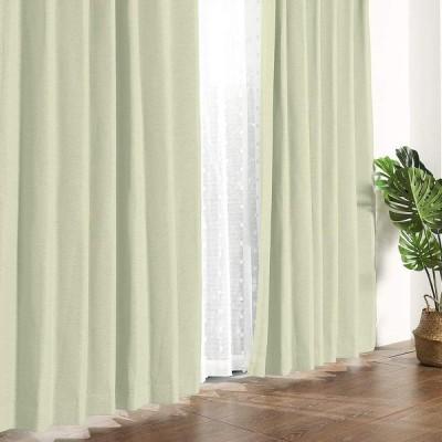MYSKY HOME 遮光カーテン 2級遮光カーテン 2枚組 リネン ドレープカーテン 断熱防音省エネ 厚手 UVカット形状記憶加工 幅100cm (