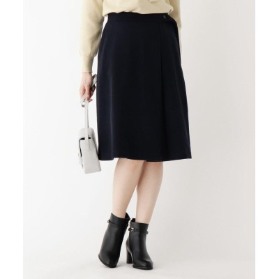 index(インデックス) 【WEB限定サイズ】ウール混ラップ風フレアスカート