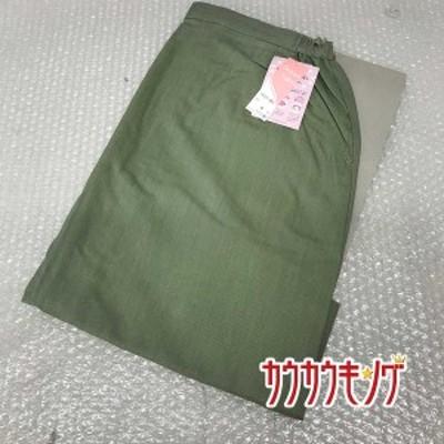 【中古】(未使用) ハイナック/HINUCK スカート 937-BS サイズ9号 ライトグリーン 事務服/オフィス/ユニフォーム/制服/受付/OL