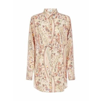 エトロ レディース シャツ トップス Etro Paisley Patterned Long Button Up Shirt -