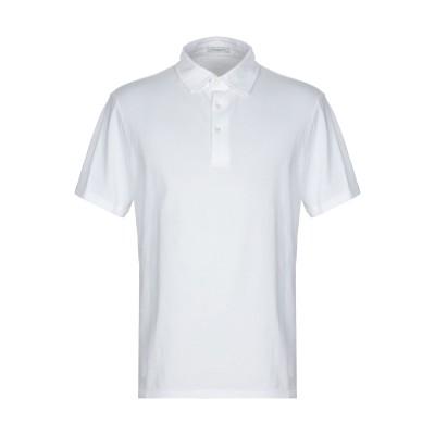パオロ ペコラ PAOLO PECORA ポロシャツ ホワイト S コットン 100% ポロシャツ