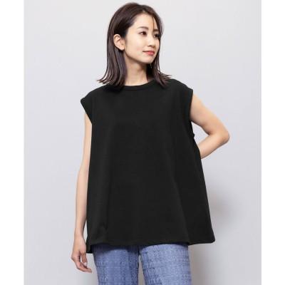 ミリアンデニ mili an deni 厚手綿100%ノースリーブTシャツ (ブラック)