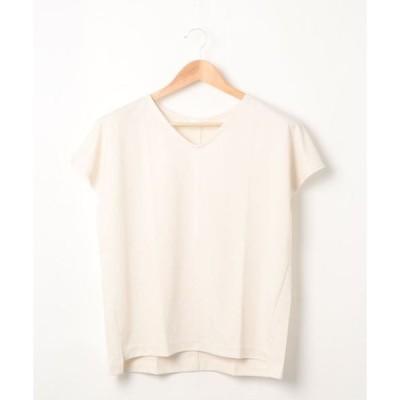 tシャツ Tシャツ アクセ付Vプルオーバー