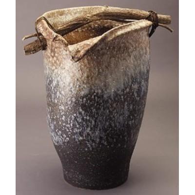 信楽焼 陶器 傘立て 和風 モダン 洋風 壺 白 ホワイト 白窯変手桶傘立 高さ50.0cm