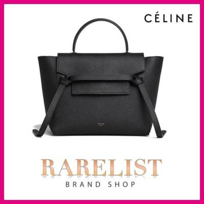 セリーヌ CELINE バッグ バック ハンドバッグ ショルダーバッグ 2WAY ブラック レザー 本革 ロゴ