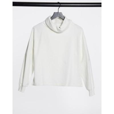 エイソス レディース シャツ トップス ASOS DESIGN structured high neck cozy sweatshirt in winter white White