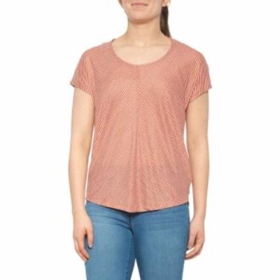 シーアンドシー カリフォルニア CandC California レディース Tシャツ トップス Dolman Striped T-Shirt - Linen. Short Sleeve Sunset C
