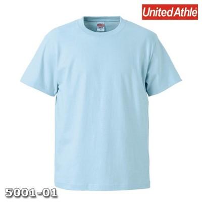 Tシャツ 半袖 メンズ ハイクオリティー 5.6oz M サイズ L ブルー 無地 ユナイテッドアスレ CAB