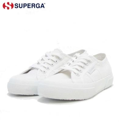 スペルガ SUPERGA 2750-COT U CLASSIC(ユニセックス)トータル ホワイト (s000010 c42)  ナチュラルなキャンバススニーカー