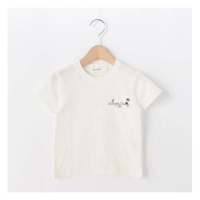 【デッサン/Dessin】 【100-140cm】オレンジカウンティロゴ天竺Tシャツ