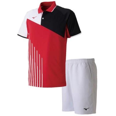 ミズノ テニス ユニホーム 上下セット ゲームシャツ&ゲームパンツ上下セット バーチャルピンク×ホワイト MIZUNO 62JA9003-65-62JB7001-01