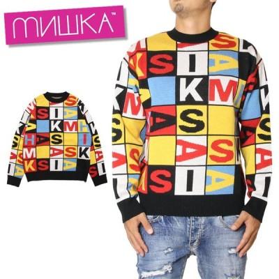 MISHKA ミシカ KNIT MAW190312 ロゴニット