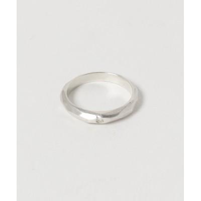 指輪 【Serenite Jewelbox】Hammered finish ring with diamond