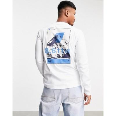 バーグハウス Berghaus メンズ 長袖Tシャツ トップス 8000'S K2 Long Sleeve T-Shirt In White ピュアホワイト