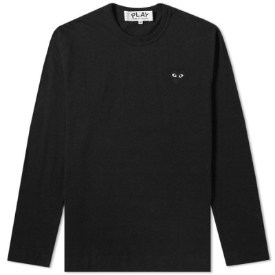 コム デ ギャルソン Comme des Garcons Play メンズ 長袖Tシャツ トップス Long Sleeve Tee Black/Black