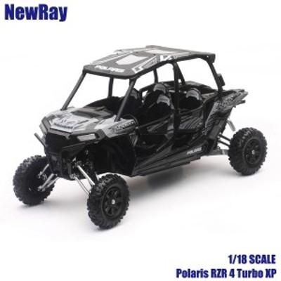 NewRay ニューレイ 1/18 スケールモデル Polaris RZR 4 Turbo XP チタニウム