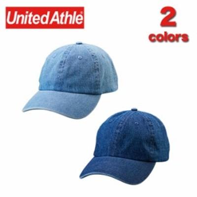 United Athle ユナイテッドアスレ 967101 デニム ウォッシュ ロー キャップ 2色 | 1サイズ 無地 メンズ レディース デニム地 綿 シンプル