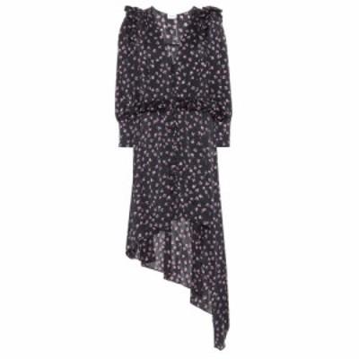 マグダ ブトリム Magda Butrym レディース ワンピース ワンピース・ドレス Tarragona printed silk dress Black