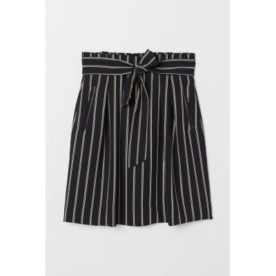 H&M - ベルテッドスカート - ホワイト