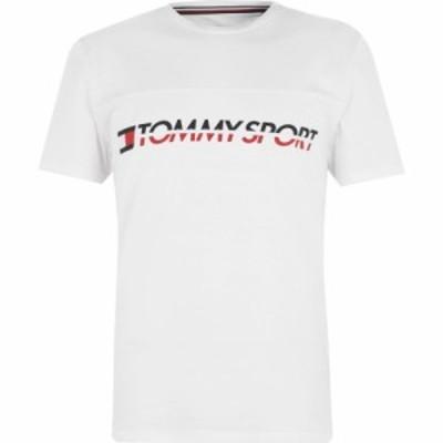 トミーヒルフィガー Tommy Sport メンズ Tシャツ ロゴTシャツ トップス Driver Logo T Shirt PVH White