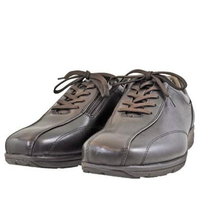 メンズ 靴 カジュアルシューズ アシックス ペダラ メンズ ファスナー付き 幅広 4E ウォーキングシューズ コーヒー 1211A037-200