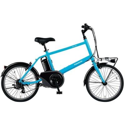 PANASONIC BE-ELVS073V フラットアクアブルー ベロスター・ミニ [電動アシスト自転車(20インチ・外装7段変速)] 電動自転車