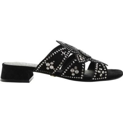 セセリアニューヨーク スニーカー シューズ レディース Martini Micro Stud Sandal (Women's) Black Suede
