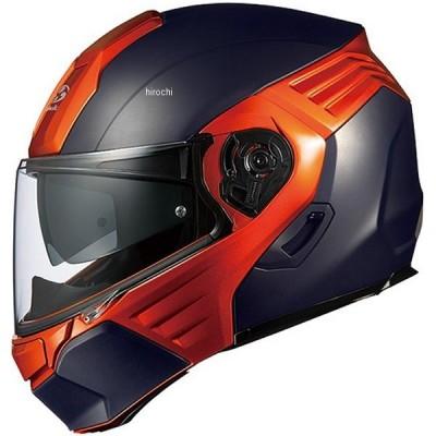 4966094562113 オージーケーカブト OGK KABUTO システムヘルメット KAZAMI フラットブラック/オレンジ Mサイズ(57cm-58cm) JP店