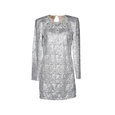 ピンコ PINKO ミニワンピース&ドレス シルバー 40 ポリエステル 100% ミニワンピース&ドレス