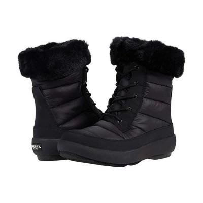 Sperry Bearing PlushWave Boots Nylon レディース ブーツ Black/Black