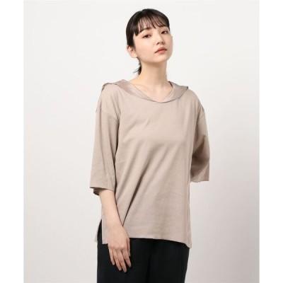 tシャツ Tシャツ 異素材セーラーカラープルオーバー*
