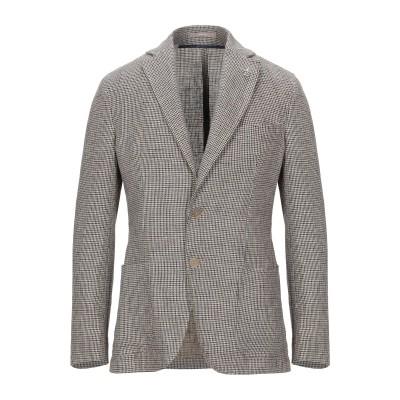 パオローニ PAOLONI テーラードジャケット ブラウン 48 リネン 100% テーラードジャケット