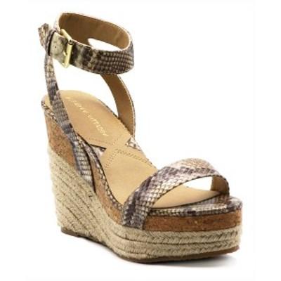 アドリアンヌヴィッタディーニ レディース サンダル シューズ Women's Cari Platform Wedge Sandals Brown