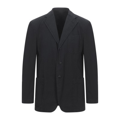 LUBIAM テーラードジャケット ブラック 52 コットン 100% テーラードジャケット