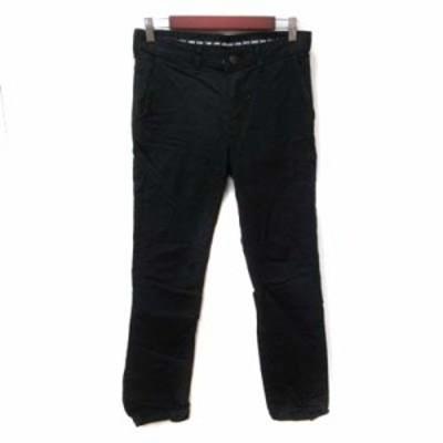 【中古】エドウィン EDWIN テーパードパンツ カラーデニム 29 黒 ブラック /YI メンズ