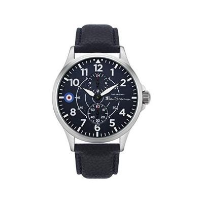 Ben Sherman Men's Japanese Quartz Watch with Leather Strap, Blue, 20 (Model: BS027U) 並行輸入品