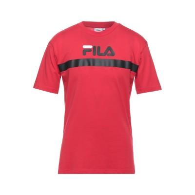 FILA T シャツ レッド XS コットン 100% T シャツ